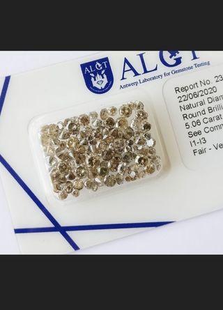 102 diamantes auténticos