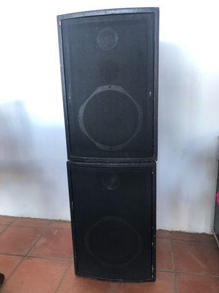 2 Altavoces JBL + amplificador 800W- DJ