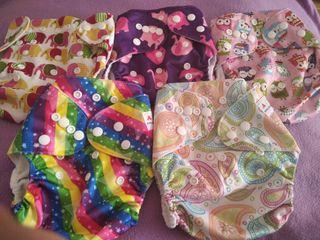 Cobertores rellenables pañales tela