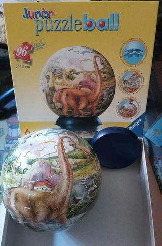 Puzzle en bola de dinosaurios