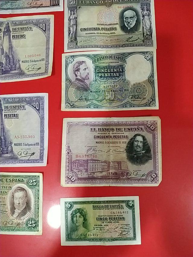 lote de 9 billetes antiguos + regalo