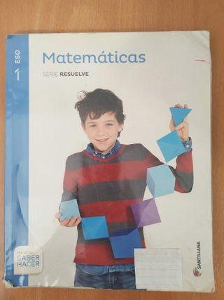 Libro MATEMÁTICAS 1 ESO Editorial Santillana