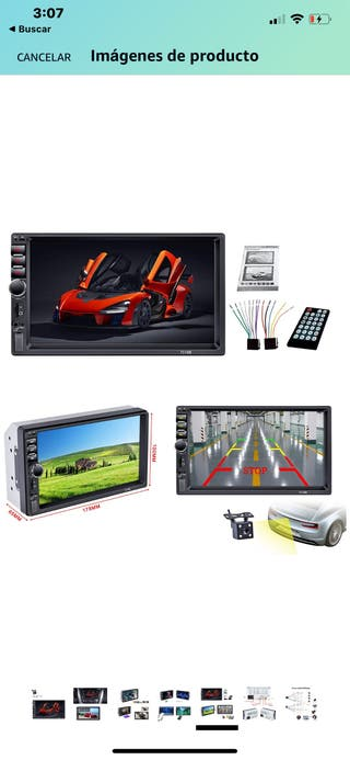 Pantalla táctil coche 7 pulgadas multimedia.