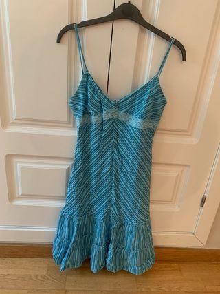 Vestido en color azul talla 42 poca talla