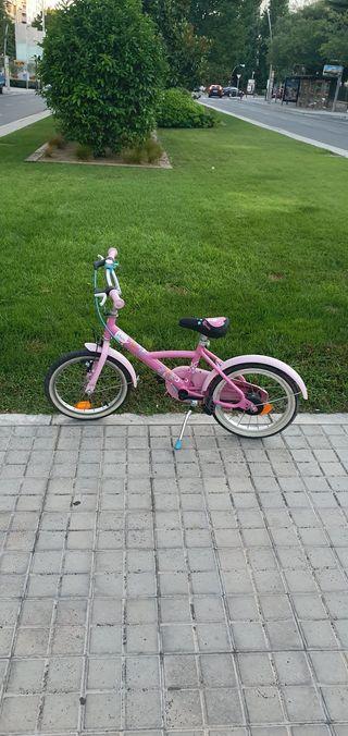 bici bicicleta btwin niña rosa 16 pulgadas