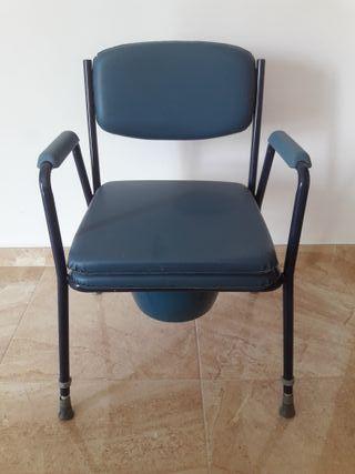 Silla WC Acolchada con Inodoro Portátil