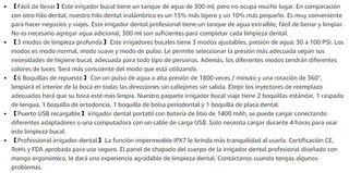 Irrigador Bucal Portátil Profesional SIN ESTRENAR