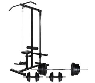 Máquina de musculación con pesas y mancuernas 60,5