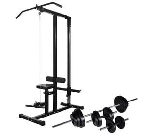Máquina de musculación con pesas y mancuernas 30,5