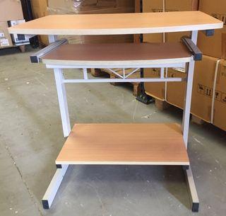 Mesa escritorio-ordenador madera y metal