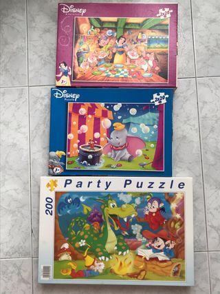 Lote de 3 puzzles infantiles