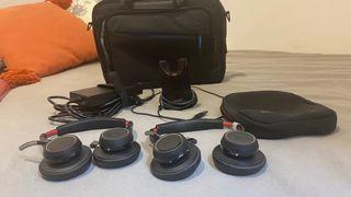 Cascos plantronics Bluetooth con estuche y cargado