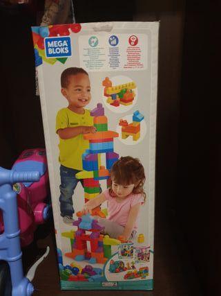 caja de piezas de bloques