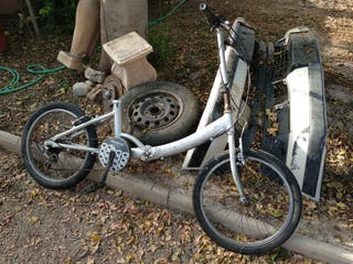 bicicleta plegable incompleta