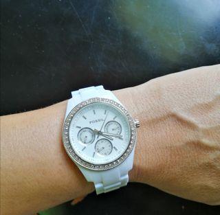 Reloj Fossil blanco
