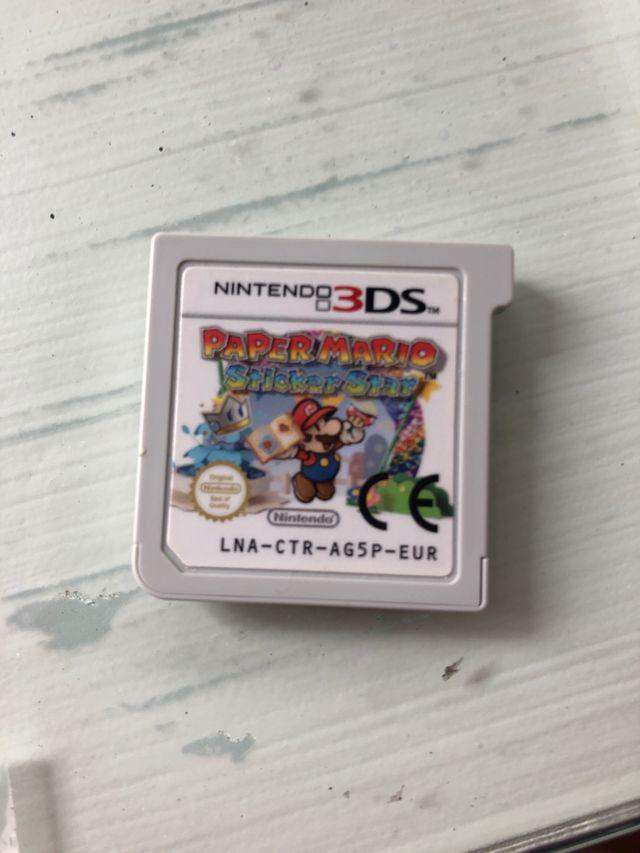 juego super mario paper sticker star 3ds
