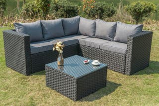 rattan garden sofa table
