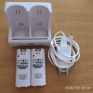 Cargador y baterías para mando wii