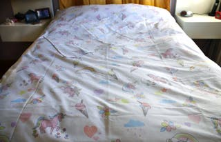 Funda nórdica unicornios cama individual