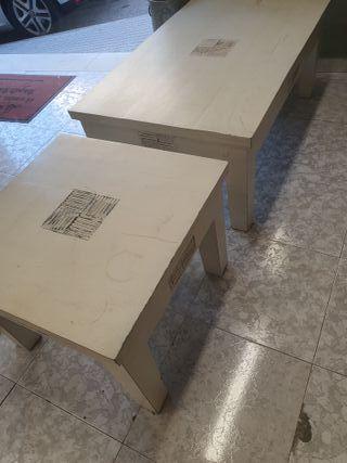Mesas de centro madera maciza de la casa Pórtico