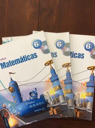 Libros Matemáticas 6º Primaria