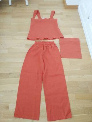 Pijama de lino