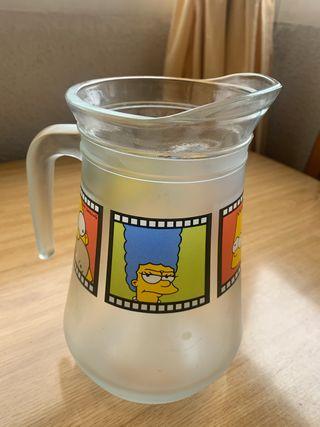 Jarra cristal agua Simpsons y bolsa bandolera