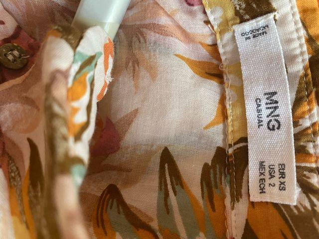 Camisa blusa estampada flores Mango - XS/S
