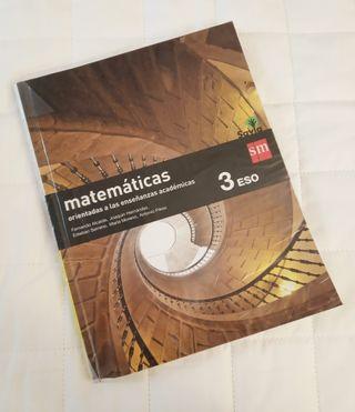 Libro Matemáticas sm 3 eso
