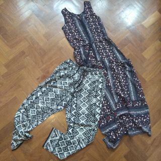 Pack pantalones fluidos + vestido largo Oysho