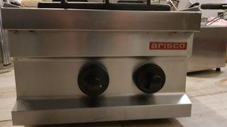cocina a gas sobremesa 2 fuegos industrial