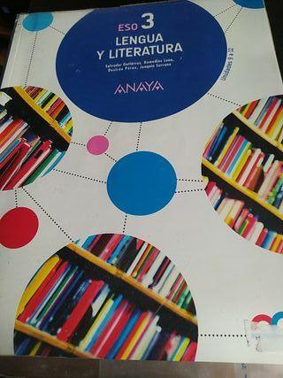 pack de tres libros Lengua y literatura 3ro ESO