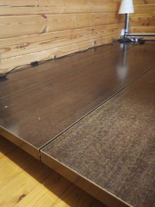 Cama tatami color wengué 200x220 cm