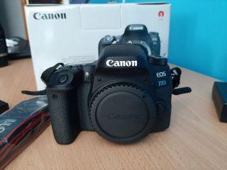 camara reflex canon eos 77 D sin uso!!