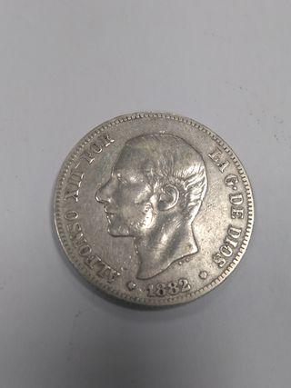 2 pesetas 1882