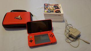 Nintendo 3DS + funda + 5 juegos