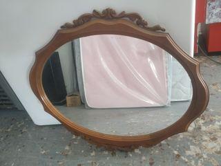 Espejo Antiguo Vintage madera