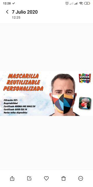 MASCARILLAS PERSONALIZADAS HOMOLOGADAS