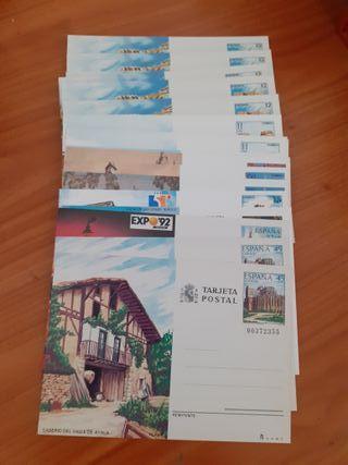Lote de 26 entero postales variadas