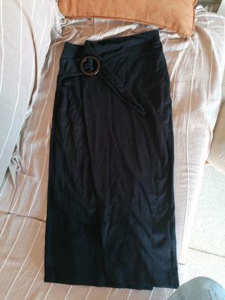 falda punto larha negra