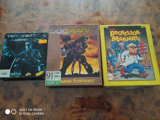 Tres juegos de Atari st