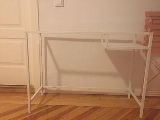 Mesa para portátil Blanco vidrio