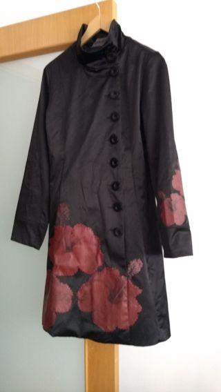 Mujer Desigual Abrigo/Gabardina Negro