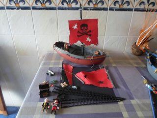 barco pirata PLAYMOBIL tesoro y velas