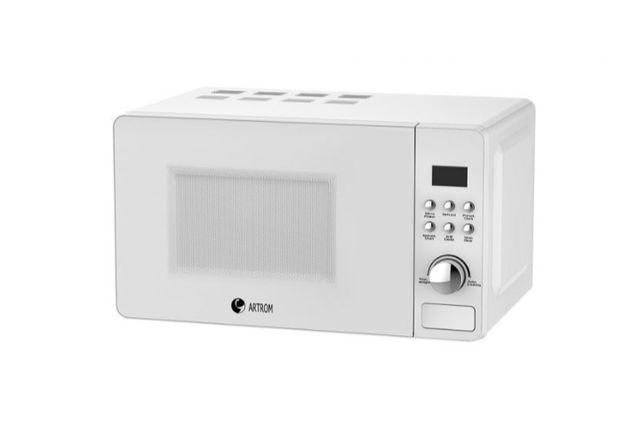 microondas vintage cristal blanco