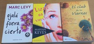Novelas de Marc Levy, Marian Keyes y Kate Jacobs