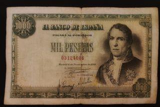 billete 1000 pesetas 1949 sin serie
