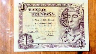 Billete de 1 peseta 1948