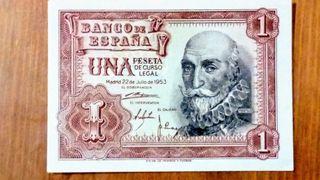Billete 1 peseta 1953