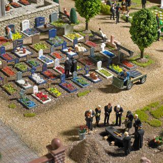 Modelismo maqueta H0 Busch 1090 cementerio